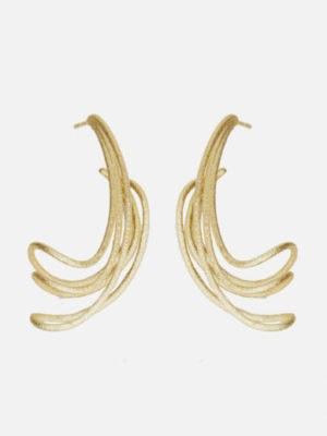 Ohrringe Welle M Goldplattiert (2)
