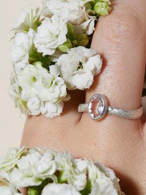 Silber Ring Berkristall