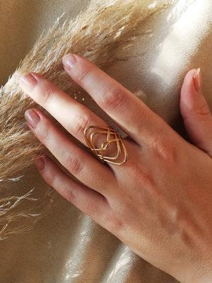 vergoldeter ring am finger