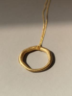 Gold Kette Kreisanhänger