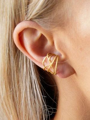 gold earcuff groß