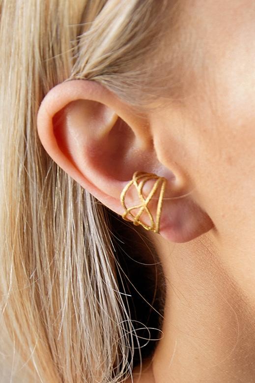 wunderschöner designer earcuff gold