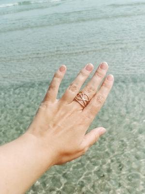 Echtgold Ring mit Brillianten